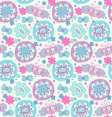 Decorative seamless floral pattern — Stock Vector