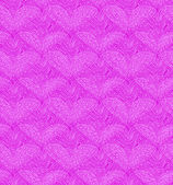 Pink seamless pattern with linear hearts — Stock Vector
