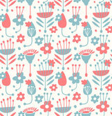 Unusual seamless floral pattern — Stock Vector