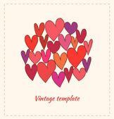 Cuori decorativi — Vettoriale Stock