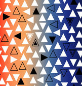 Geometric gradient seamless pattern with triangles — Stock Vector