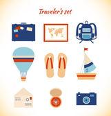 Holiday traveler äventyr utspelar. — Stockvektor