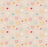 Cute seamless pattern with hearts — 图库矢量图片