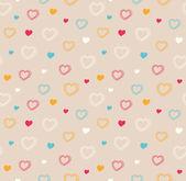 Patrón lindo inconsútil con corazones — Vector de stock