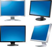 Fyra monitorer. — Stockvektor