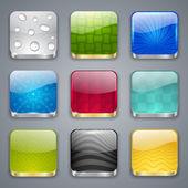 アプリ ボタン — ストックベクタ