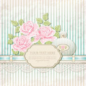 Vintage background with roses — Stock Vector