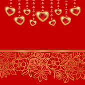 Valentines day greeting card. — Stock vektor