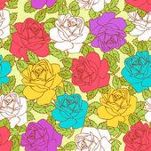 Teste padrão floral bonito sem emenda — Vetor de Stock