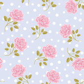 Modèle de papier peint sans couture avec roses — Vecteur