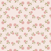 Pink vintage rose pattern. — Stock Vector