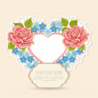 Greeting card with heart shape. Valentine's day — Stock Vector
