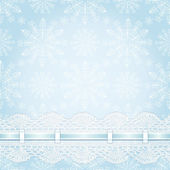 Jul sömlös bakgrund med snöflingor. — Stockvektor