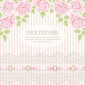 Fondo vintage con rosas — Vector de stock