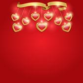 Fundo dia dos namorados com corações — Vetorial Stock