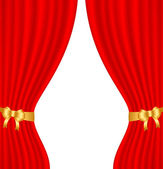 Red curtain — Vector de stock