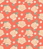 Padrão de papel de parede sem costura com rosas — Vetorial Stock