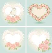 贺卡与心的形状. — 图库矢量图片
