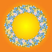 Wreath of flowers — Stock Vector