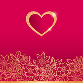 Valentines day greeting card. — Vetor de Stock