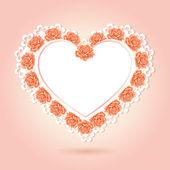 Tarjeta de felicitación con forma de corazón. día de san valentín — Vector de stock