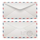 Vector postage envelopes — Stok Vektör