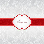 Christmas seamless background with snowflakes. — Stock Vector