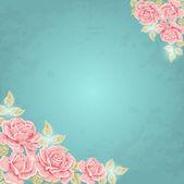 Vector achtergrond met rozen — Stockvector