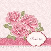 Floral achtergrond met rozen — Stockvector