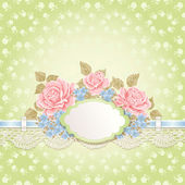 Vintage background with lace. — Stock Vector
