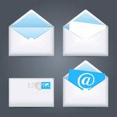 Envelopes icons set. — ストックベクタ