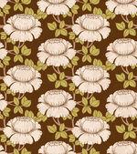 Ročník bezešvé vzor s květinami — Stock vektor