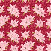 Fondo floral transparente con lily — Vector de stock