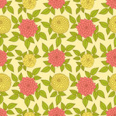 Floral seamless background — Stock Vector