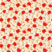 Seamless wallpaper pattern with roses — Stock Vector