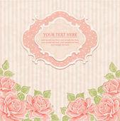Fondo vintage con rosas. — Vector de stock