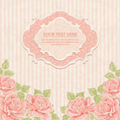 Vintage background with roses. — Stock Vector