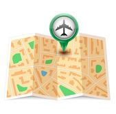 Vector City map with label pin — Stock Vector