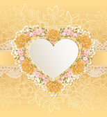 Greeting card with heart shape. — Stock Vector