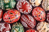 Traditional Easter eggs close up — Stock Photo