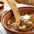 Detail of bowl with goulash soup — Stock Photo #26174725