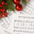 Sheets of Christmas carols — 图库照片