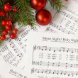 Sheets of Christmas carols — Stock Photo