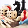 Stock Photo: Detail of board games
