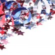 Red, white and blue stars and ribbons — Stock Photo