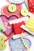 Top view of sewing items — Stock Photo