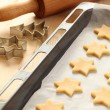 Baking cookies for Christmas — Stock Photo