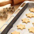 Stock Photo: Baking cookies for Christmas