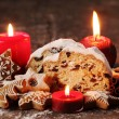 Christmas stollen, cookies and gingerbread — Stock Photo #26299567