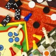 Stock Photo: Top view of board games